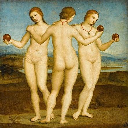 Die drei Grazien; Raffael, ca. 1503–1505