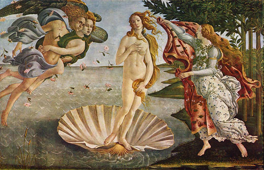 Geburt der Venus; Sandro Botticelli, ca. 1485/86