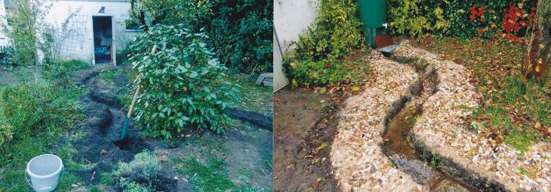 Anlage eines Wassergrabens im naturnahen Garten