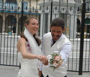 Brautpaar in Havanna, Kuba
