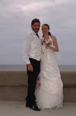 Brautpaar am Malecon, Havanna, Kuba