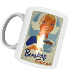 Tasse mit Retromotiv - Bensdorp Cacao