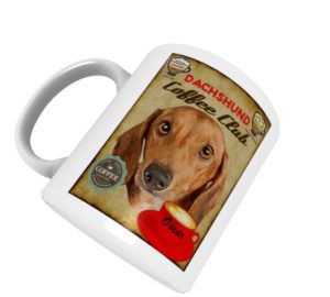 Tasse mit Retrodruck - Dachshund Coffee Club