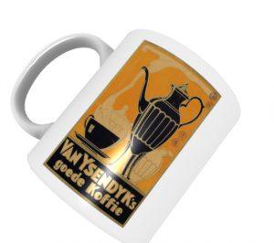 Tasse mit Retro-Werbung Van Ysendyk`s goede Koffie