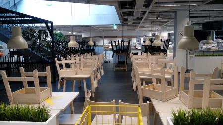 Geschlossenes Restaurant bei IKEA in Kaarst