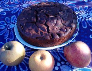 Apfelkuchen mit Tequilla, Kakao und Chili