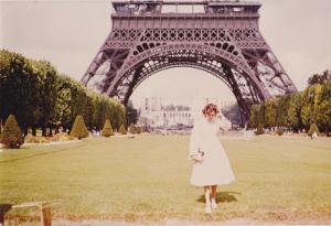 Unter dem Eifelturm; Foto aus den 1970er Jahren