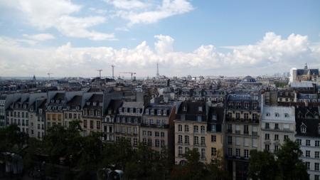 Blick auf den Eifelturm vom Centre Pompidou