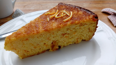 Orangen-Mandel-Kuchen aus Irland