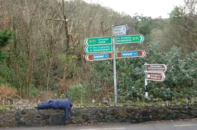 Leap, Mizen Halbinsel, Irland, Scarecrow Festival