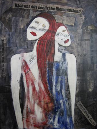 """Gemälde """"Nach uns das seelische Niemandsland"""" von Xenia Marita Riebe"""