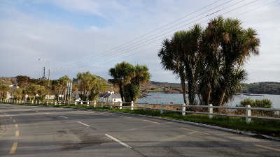 Ortseinfahrt, Schull, West Cork, Irland