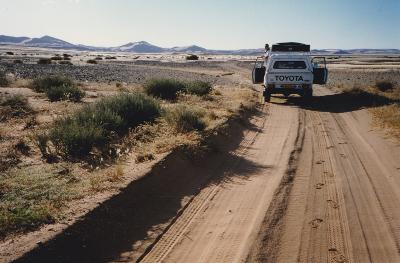 Sandpiste in Namibia