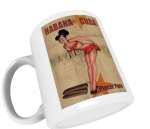 Tasse mit Retro-Werbefoto, Habana Kuba
