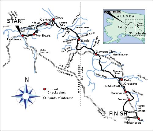 Karte Yukon Quest