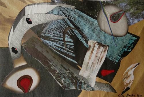 Ungegenstandliche Collage - Xenia Marita Riebe