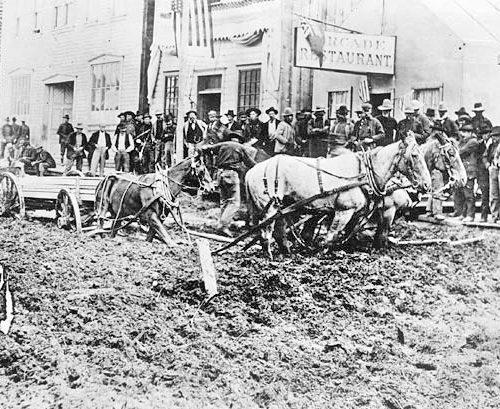 Frontstreet Dawson City, 1898
