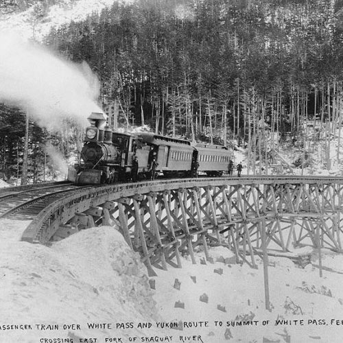 Erster Passagierzug am White Pass, 20.7.1898