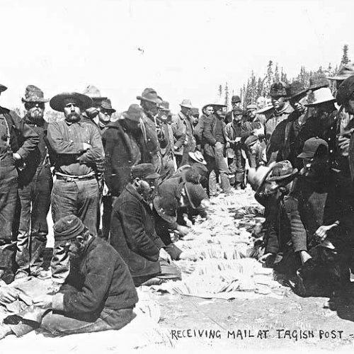 Goldgräber bekommen Post, Tagish Post, 1898