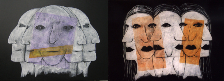 2 Gemälde Reihe Klone
