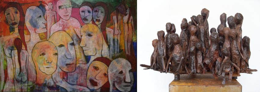 Gemälde/ Skulpturen Xenia Marita Riebe