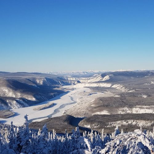 Blick nach Alaska vom Midnight Dome