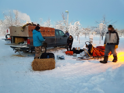 Stake Out beim Yukon Quest 2018