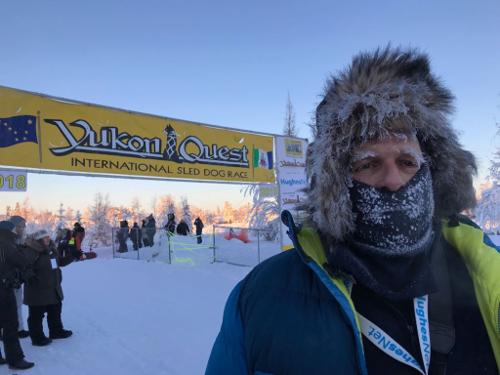 Sui Kings beim Start des Yukon Quest 2018