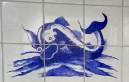 Friesische Fliesen; Fantastische Seewesen