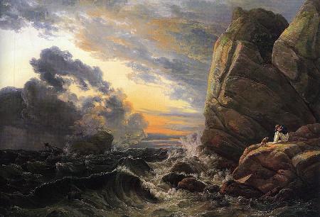 """Johan Christian Dahl, """"Morgen nach einer stürmischen Nacht"""""""