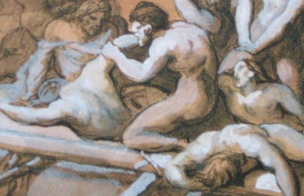 """Vorstudie zu """"Das Floß der Medusa"""", 1818/19"""