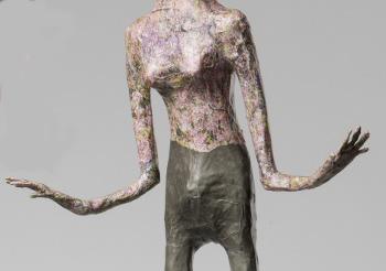 Skulptur aus Zeitungspapier, Ausschnitt, Xenia Marita Riebe