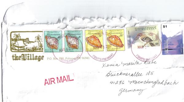 Briefumschlag aus Mikronesien