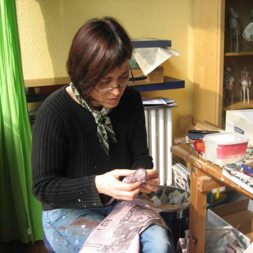 Xenia arbeitet an einem Global Citizen