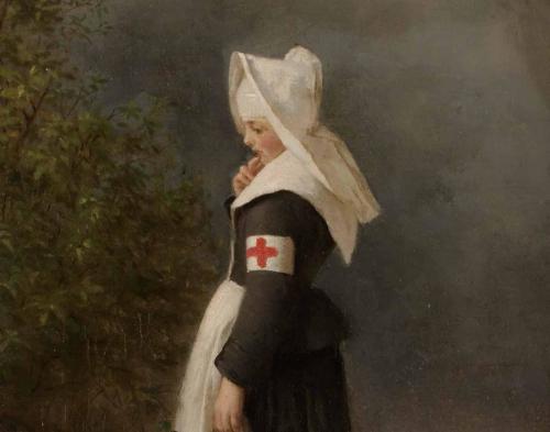 """Salomon Hirschfelder """"Krankenschwester"""" (Ausschnitt) 1875"""