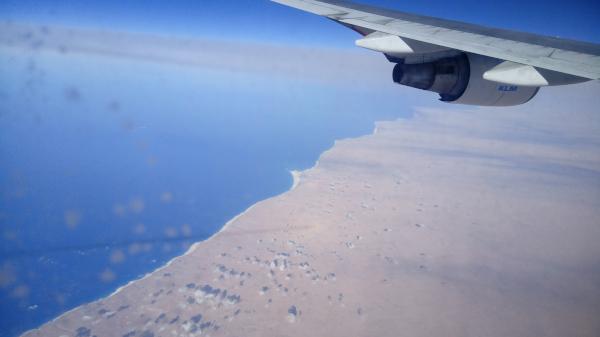 Ägyptens Küste aus dem Flugzeug