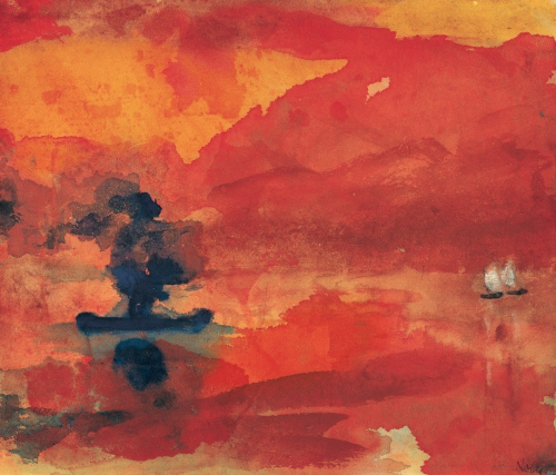 Meer mit Dampfer - Emil Nolde
