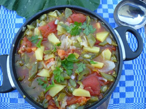 Bohnen-Tomaten-Suppe