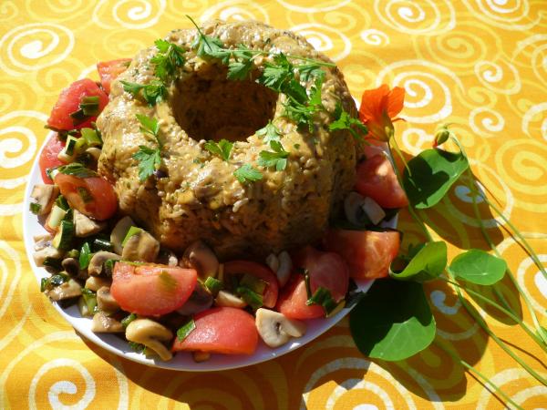 Reis - Napfkuchen mit Gemüse