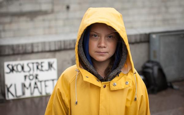 Greta Thunberg beim Schulstreik gegen den Klimawandel